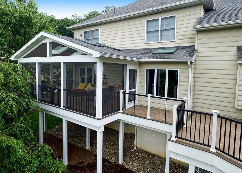 Custom TimberTech Deck/Porch, Phoenixville PA 1