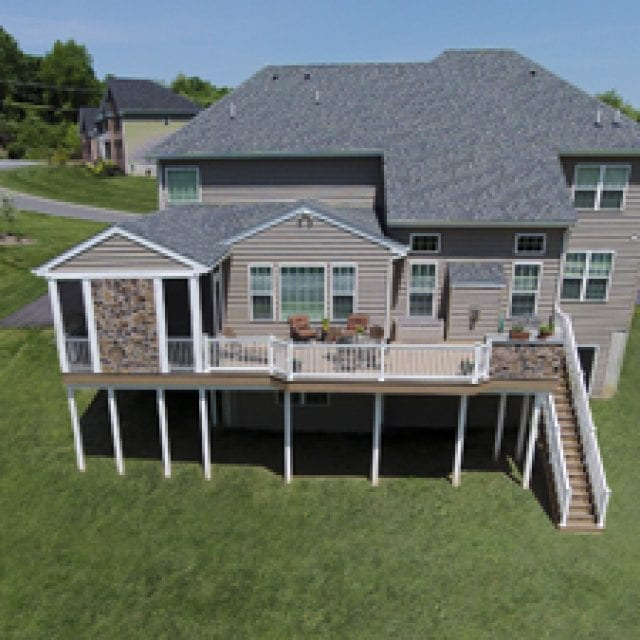 Composite Deck with Sunroom