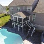 Chervenk deck with pool