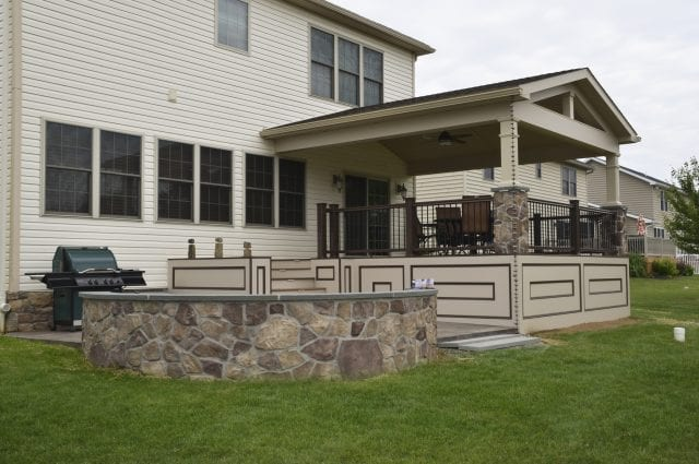 Custom TimberTech Deck/porch, Spring Grove PA