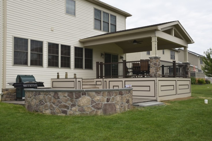 Custom TimberTech Deck/porch, Spring Grove PA