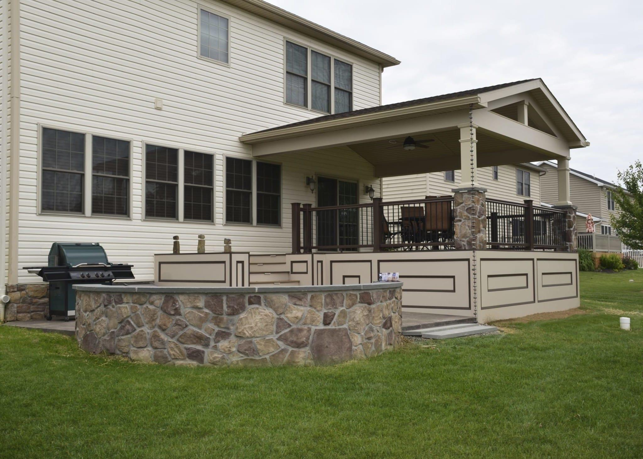 Custom TimberTech Deck/porch, Spring Grove PA 1