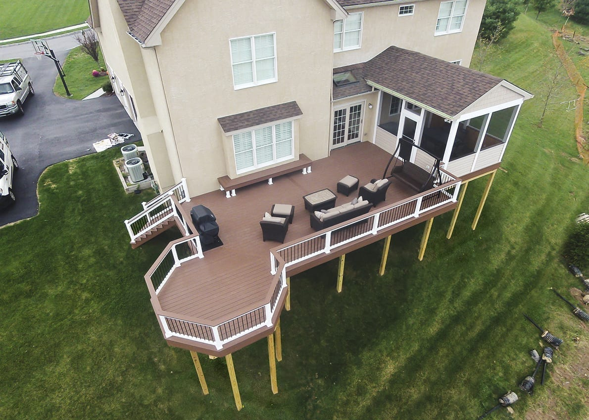 Custom Azek Deck/Screened Porch, West Chester PA 1