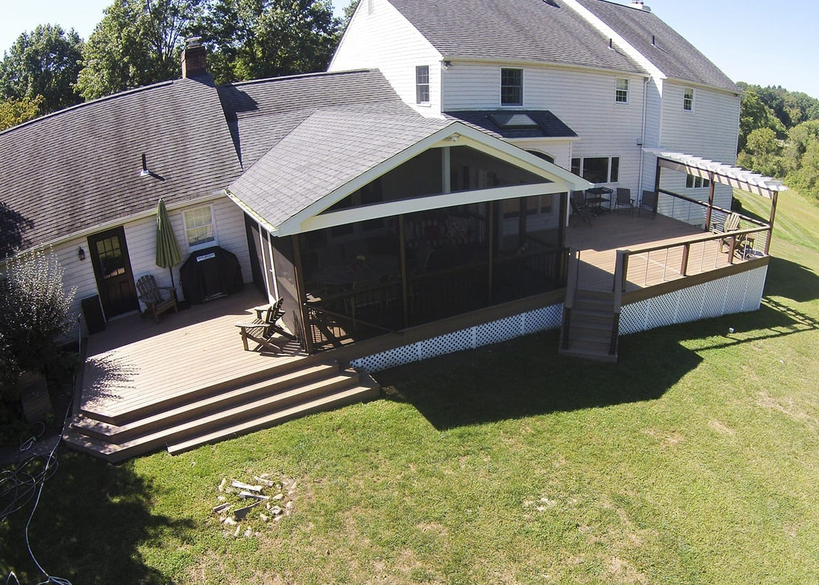 Custom TimberTech Deck/Screened Porch, West Chester PA 1