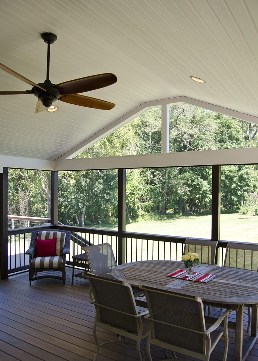 Custom Timbertech Deck Screened Porch West Chester Pa