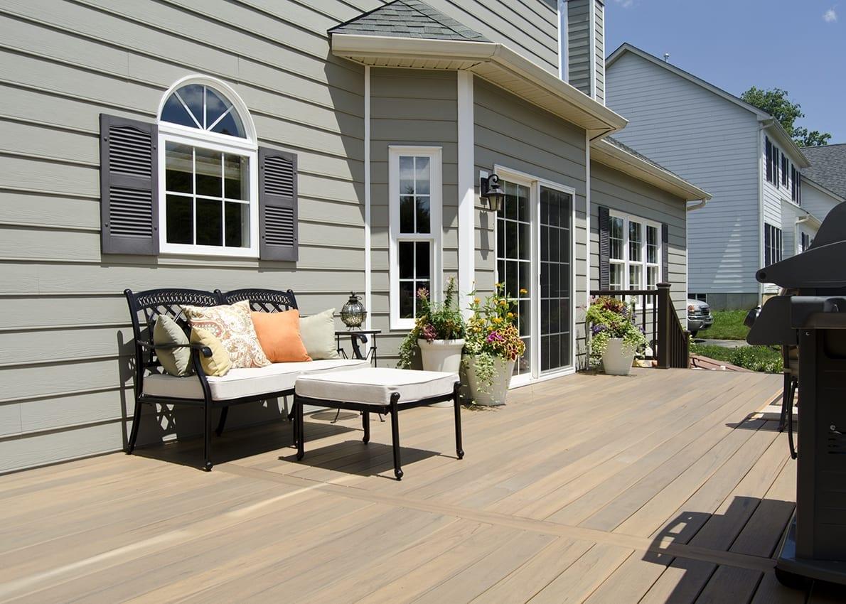 a clean composite deck