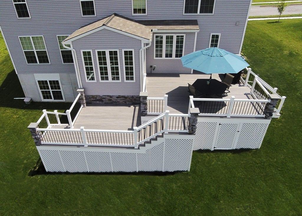 outdoor deck umbrella