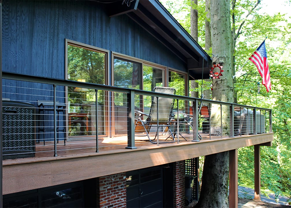 two story wrap around deck