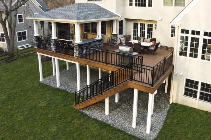 Custom TimberTech Deck/Porch, Bryn Mawr PA