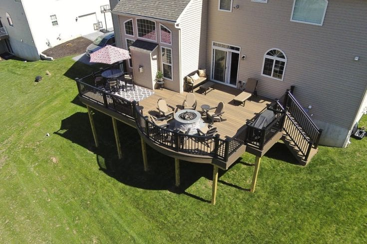 Custom TimberTech Deck, Glenmoore PA
