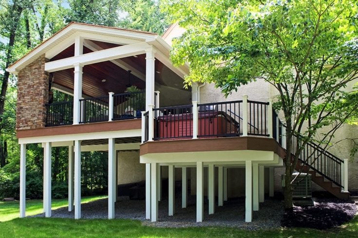 Custom TimberTech Deck/Porch, Villanova PA