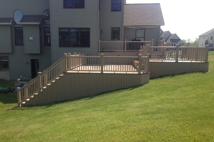 Custom Multi-Level Timbertech Deck, Webster NY