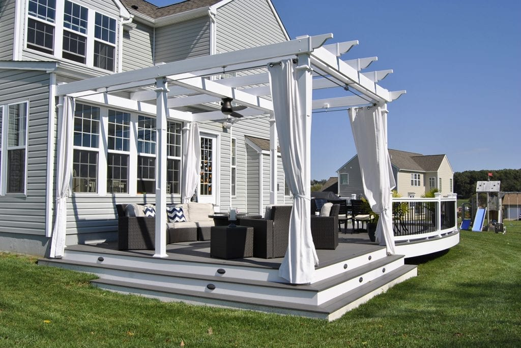 privacy pergola on deck
