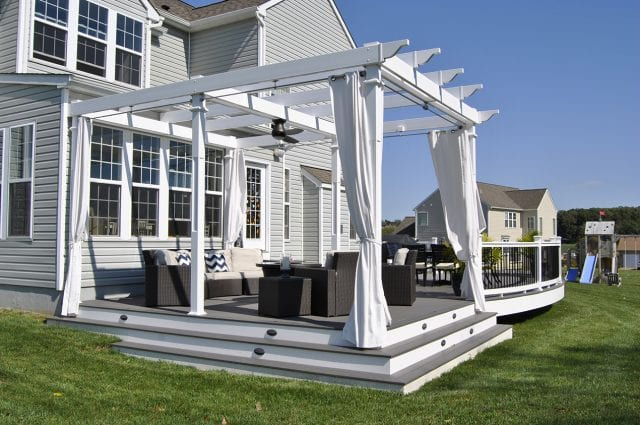 Custom TimberTech Deck/Pergola, Downingtown PA