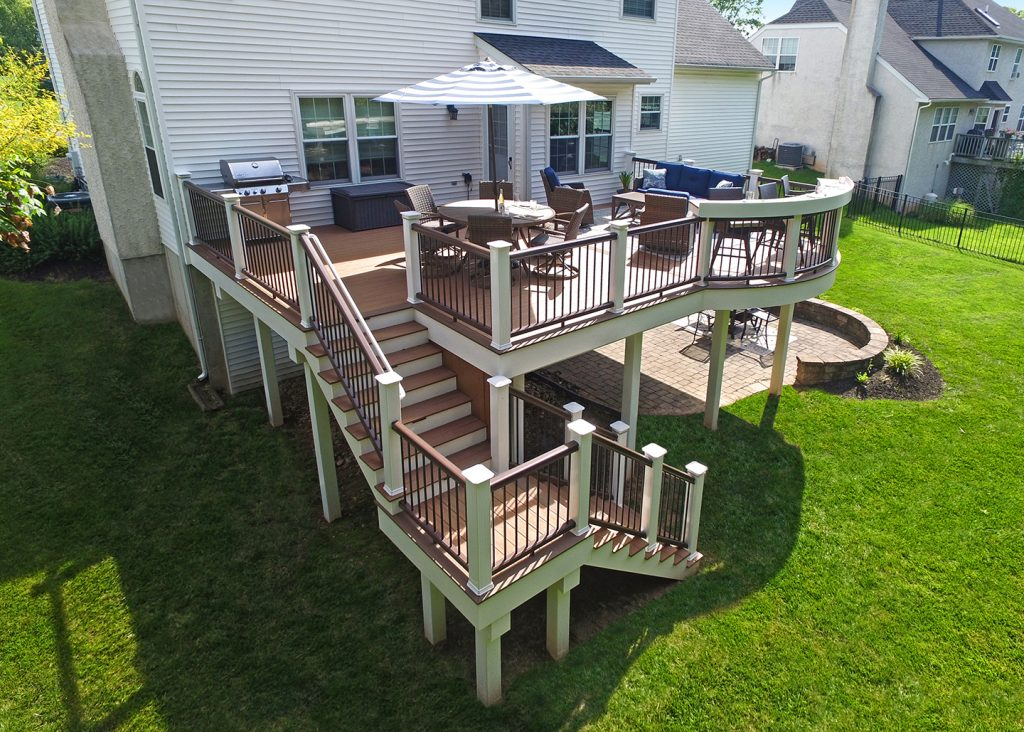 Multi-level composite deck