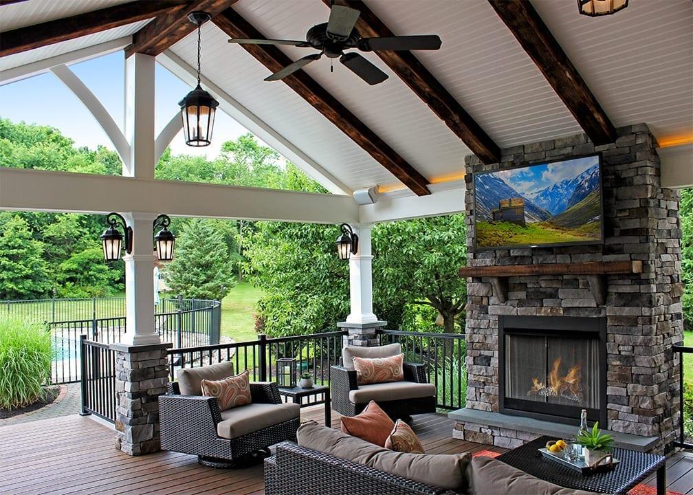 Custom TimberTech Deck/Porch/Pergola 1