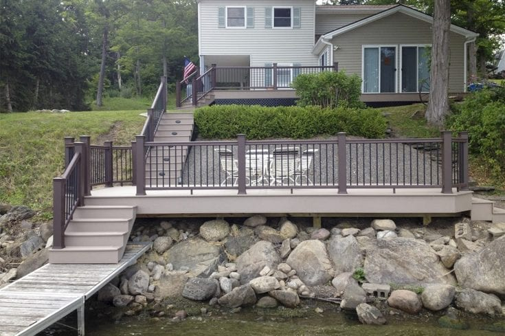 Custom TimberTech Multi-level Deck, Honeoye NY