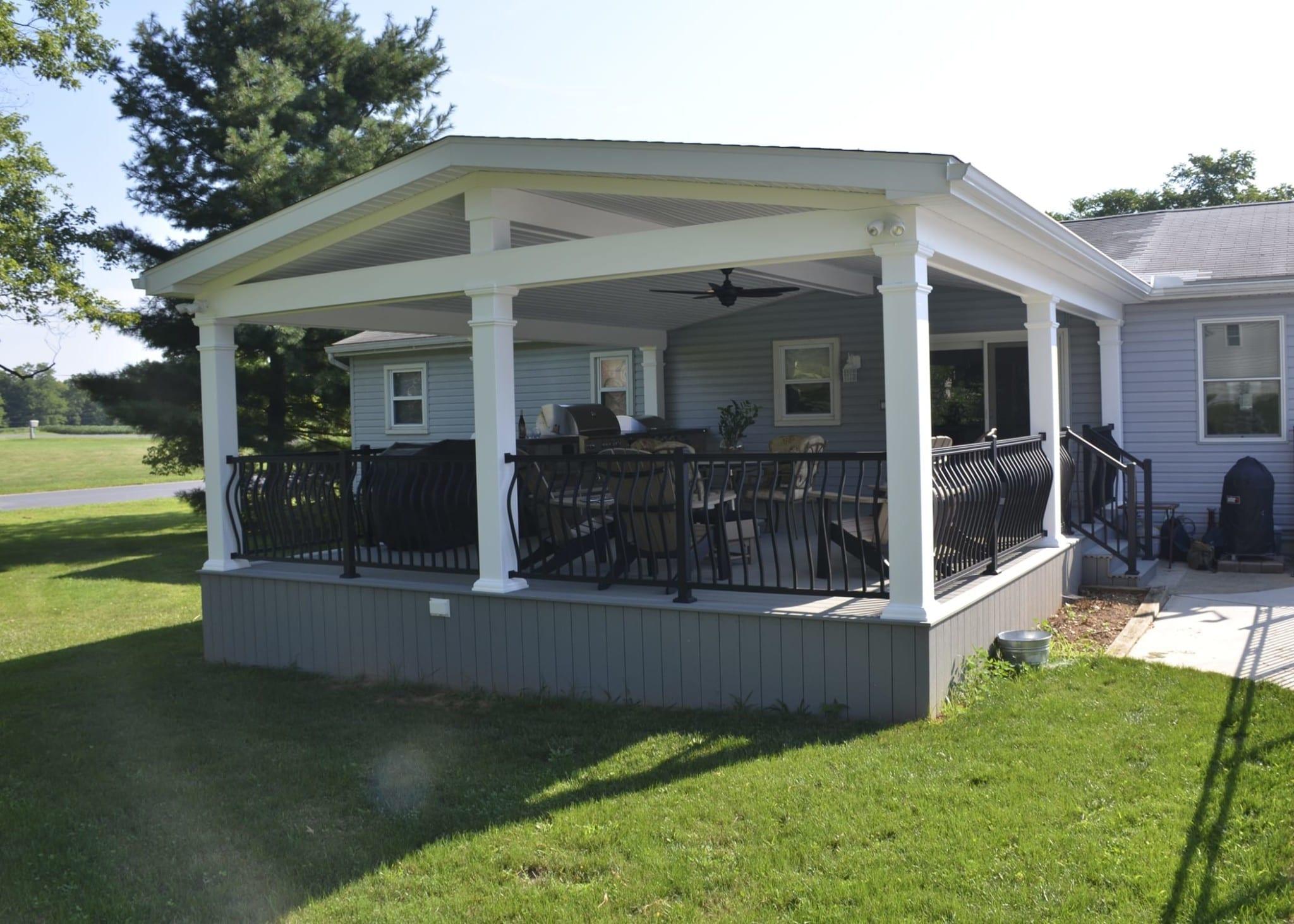 Custom TimberTech Deck/Porch, Annville PA 1