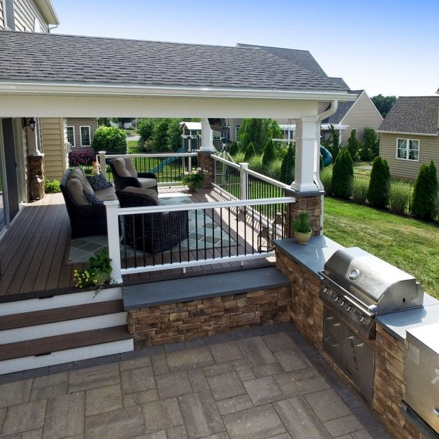 Backyard Patio Builders Covered Patios Chester Lancaster County Pa
