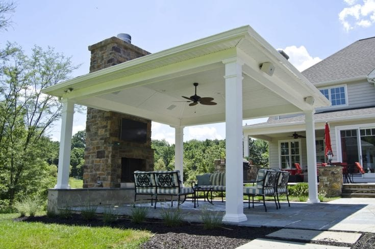 Custom Pavilion/Fireplace, Downingtown PA