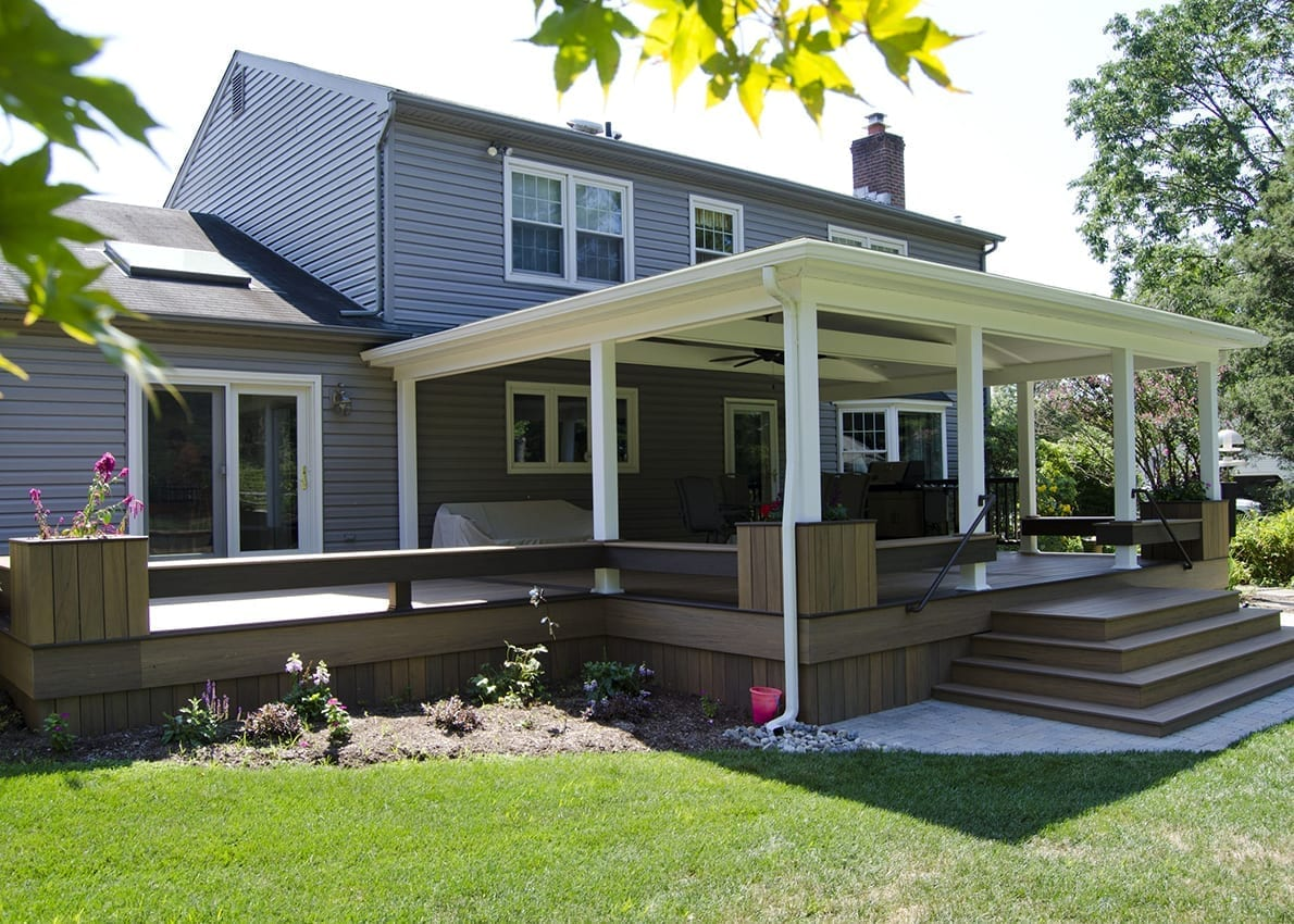 Custom Composite Deck in North Wales, PA