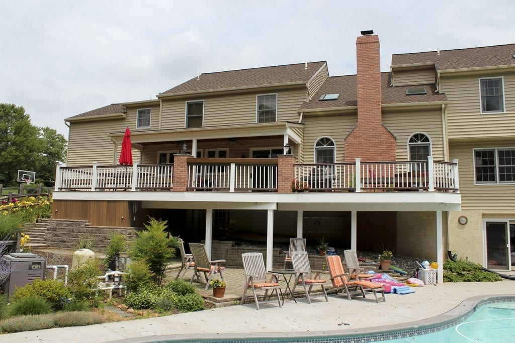 deck with pool overlook