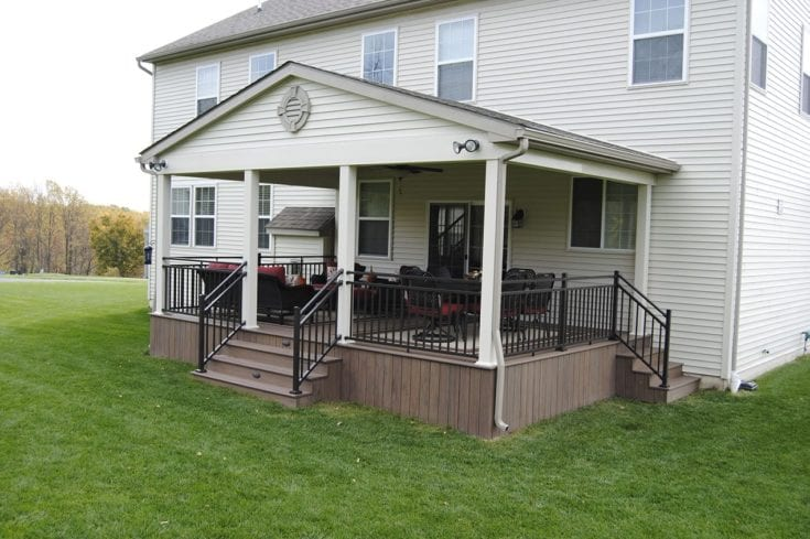 Custom TimberTech Open Porch, Downingtown PA
