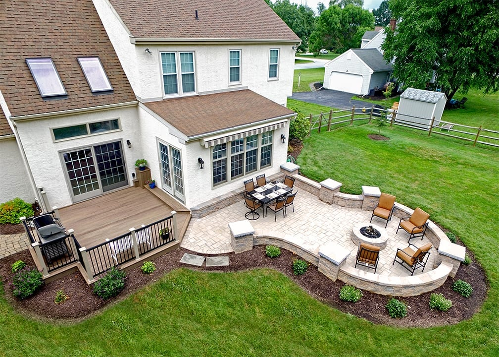Timbertech Deck And Patio · Patio With Hardscaping ...