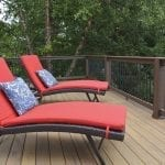 timbertech tigerwood decking area with lounge chairs