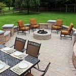patio with hardscaping