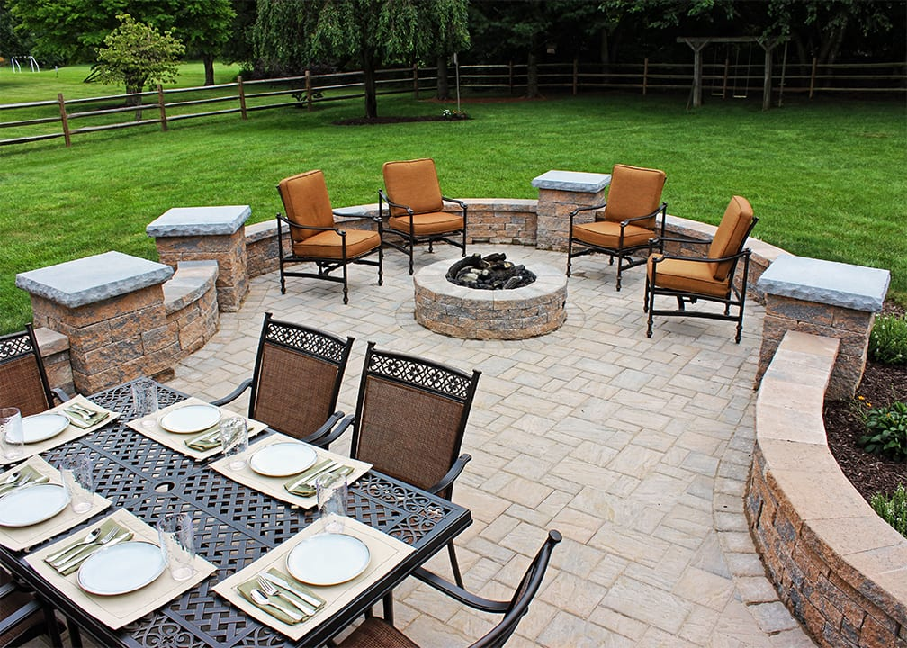 firepit on patio