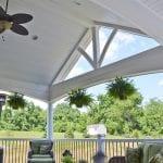 porch with trex island mist composite deck