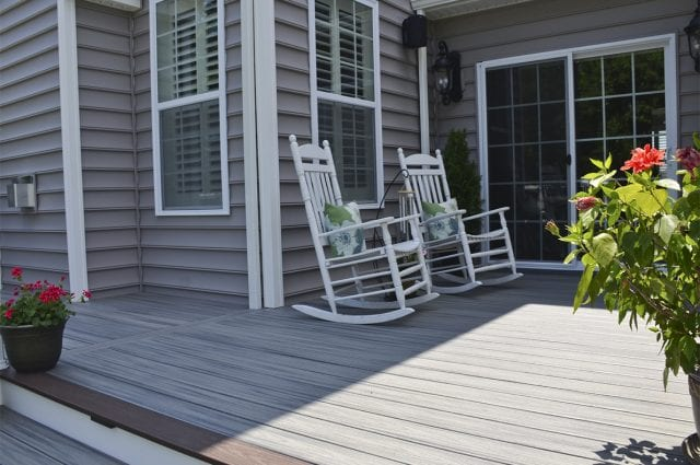 Custom Trex Deck Porch Downingtown Pa 820 Sq Ft