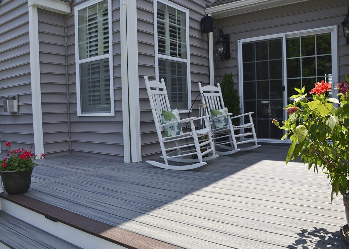 large trex decking porch   Custom Trex Deck/Porch, Downingtown PA   820 Sq Ft ...