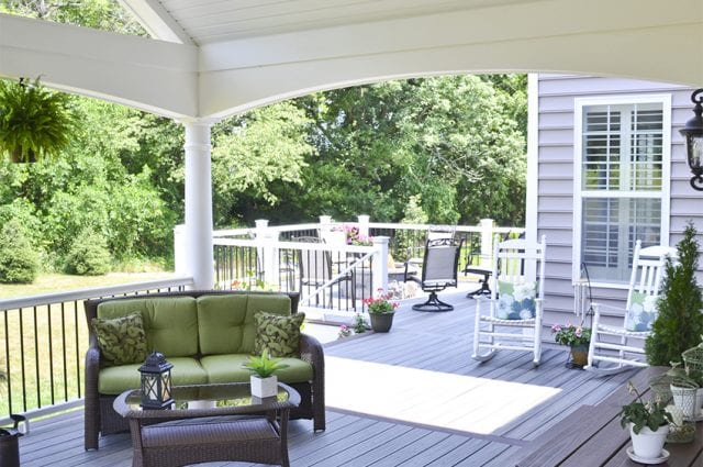 porch with trex deck in downingtown pa