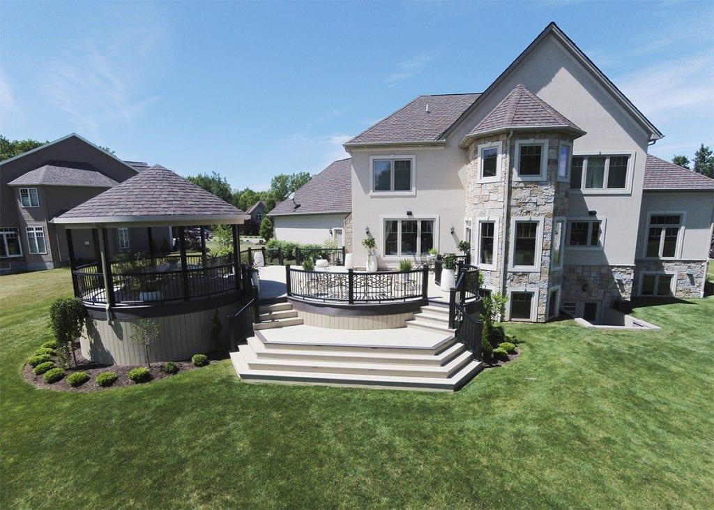 deck with hazelwood grey tones