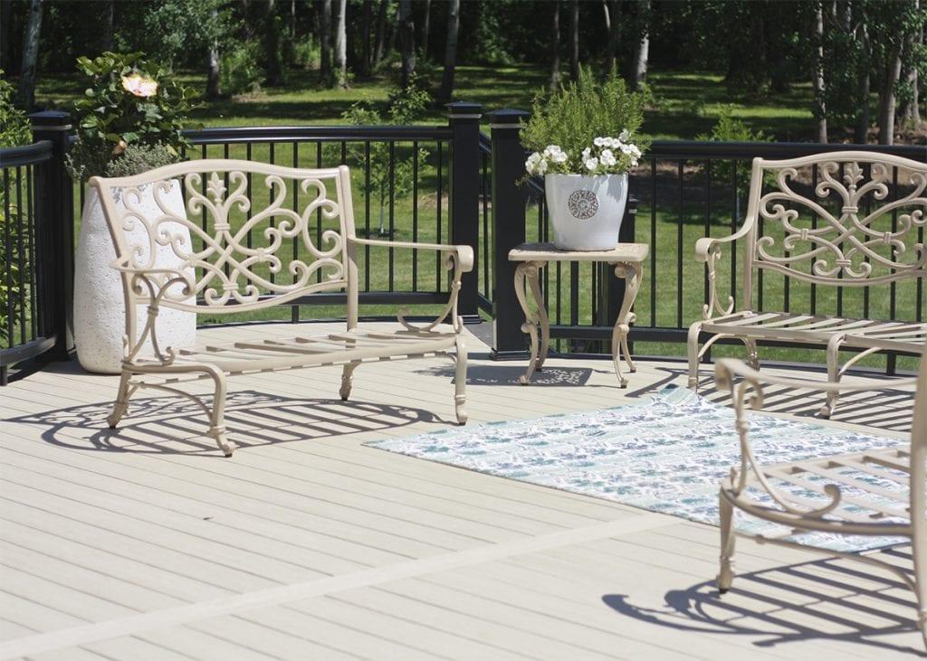 aluminum deck seating