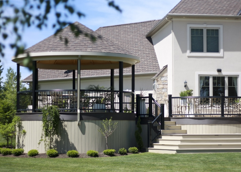 deck with covered gazebo