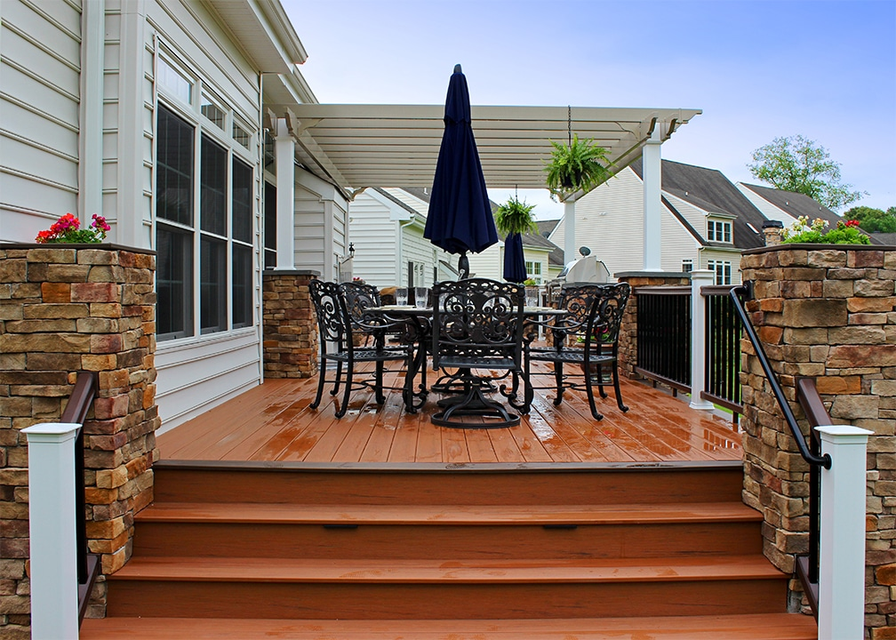 deck with rich and wild antigua gold color