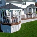 custom deck with an octagonal porch