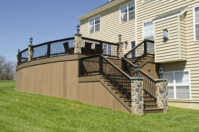 deck with perimeter lighting