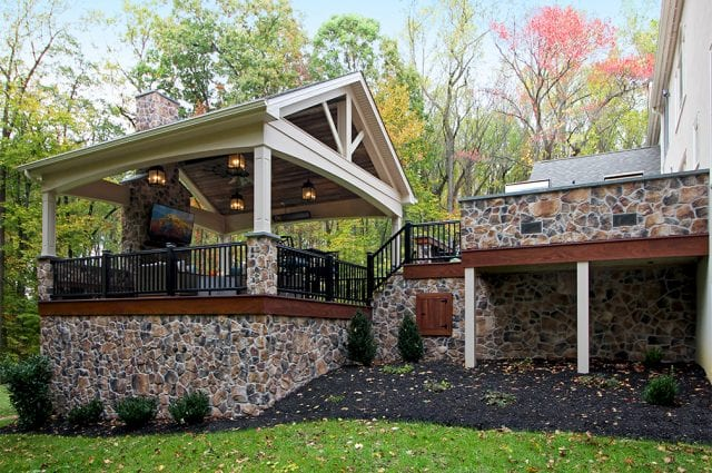 porch and deck addition in Malvern PA