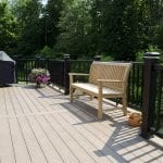 azek deck built using sedona decking and timbertech radiance rail