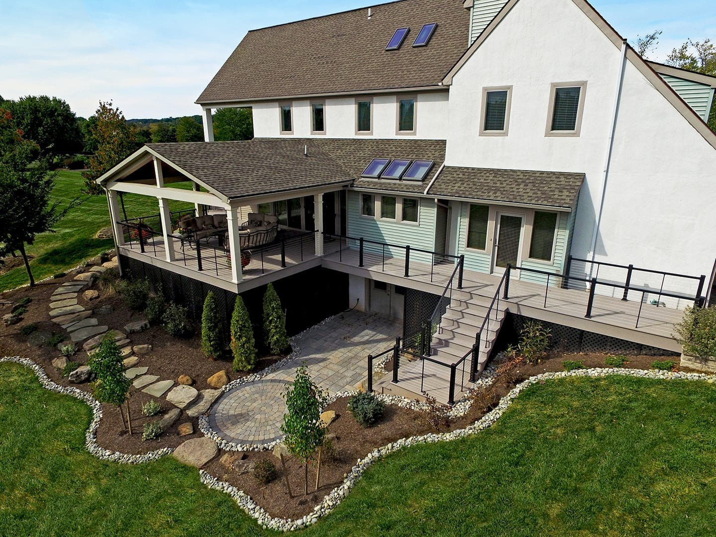 custom azek deck and porch in telford pa