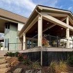 exterior view of custom azek porch