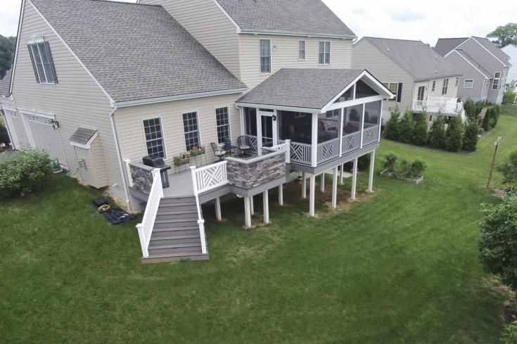 Custom TimberTech Deck/Porch, Mount Joy PA