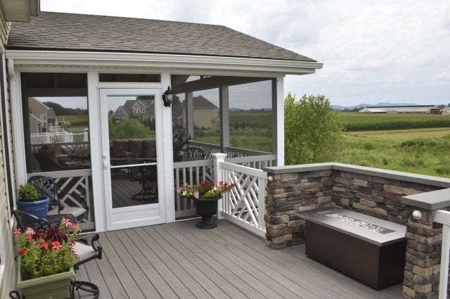 TimberTech ashwood decking with mocha accents