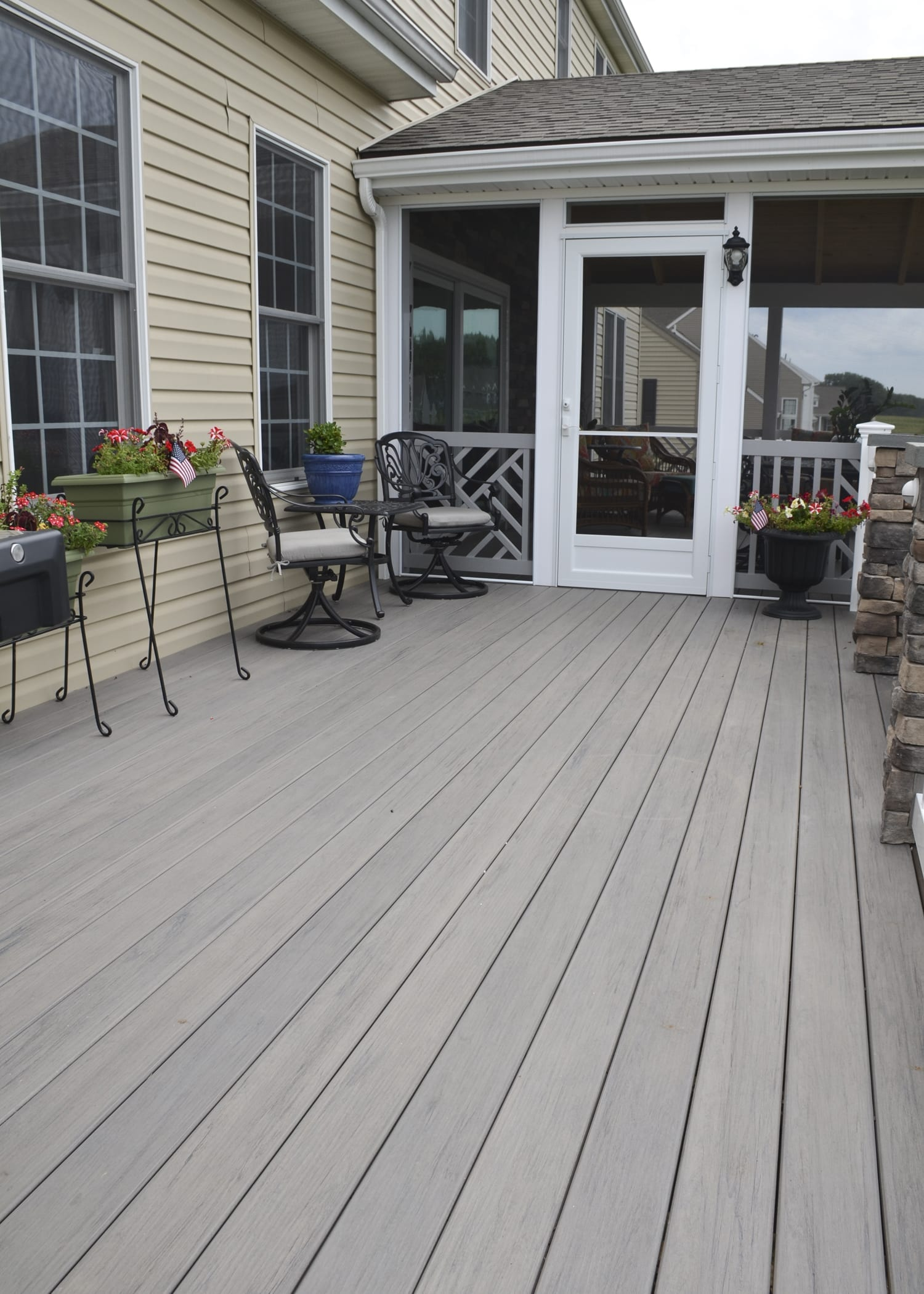Custom Timbertech Deck Porch Mount Joy Pa 494 Sq Ft