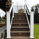wrought iron black railing system for deck