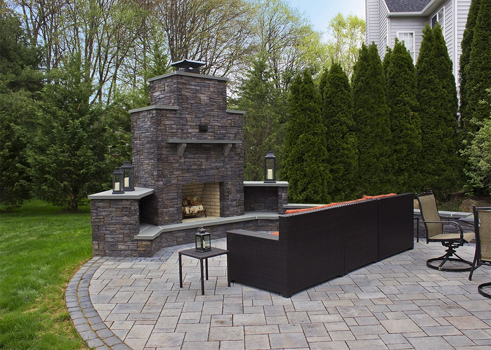 wood burning fireplace on patio in west chester pa